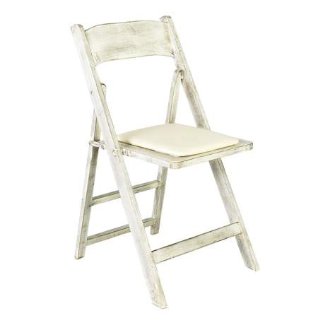 Distressed Wood Folding Chair